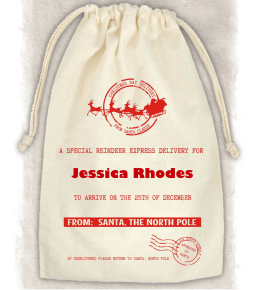 Cream Reindeer Mail Santa Sacks