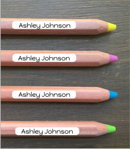 Old School Pencil Labels