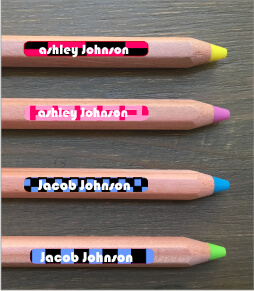 Retro Pencil Labels