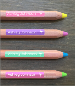 Two Tone Pencil Labels