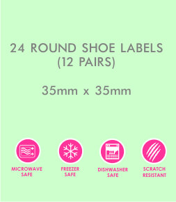 Two Tone Shoe Labels