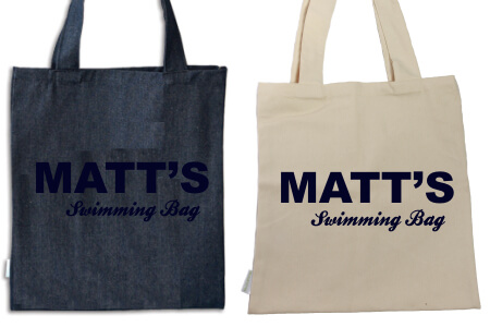 Tote Name Only Navy Flock