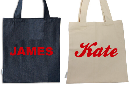 Tote Name Only Red Flock