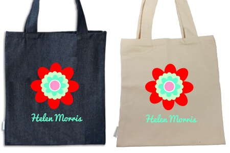 Tote Flower IRON