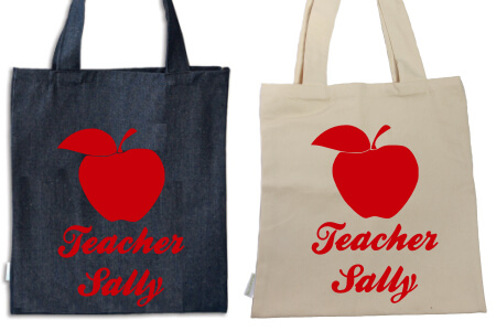 Tote Teache`rs Apple Red Flock