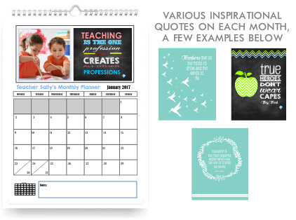 Teachers Wall hanging Monthly Calendar