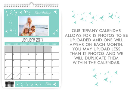 Tiffany Wall hanging Monthly Calendar
