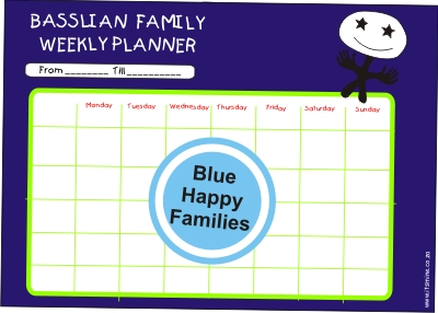 Blue happy families