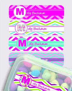 Monogram Chevron Large Vinyl